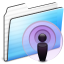podcast,folder,stripe icon