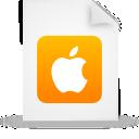 orange, apple, document, file, paper icon