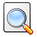 seek, document, find, file, paper, search, kghostview icon