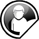 Black, User icon