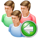 group, back icon
