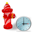 Clock, Fire, Plug icon