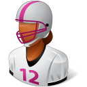 female, footballplayer icon