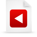 file, paper, red, document icon