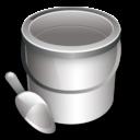 bucket, construction icon