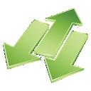 green, arrows icon