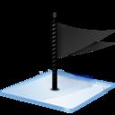 Windows 7 flag black icon