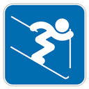 , Alpine, , Skiing icon