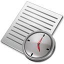 document,clock icon