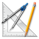 graphics, design, ruler, measure, package, school, geometry icon