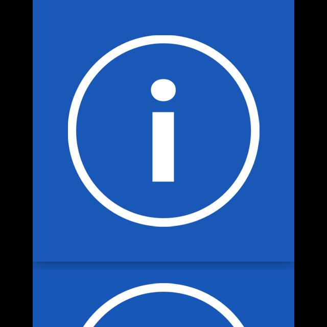mirror, info icon