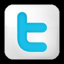social twitter box white icon