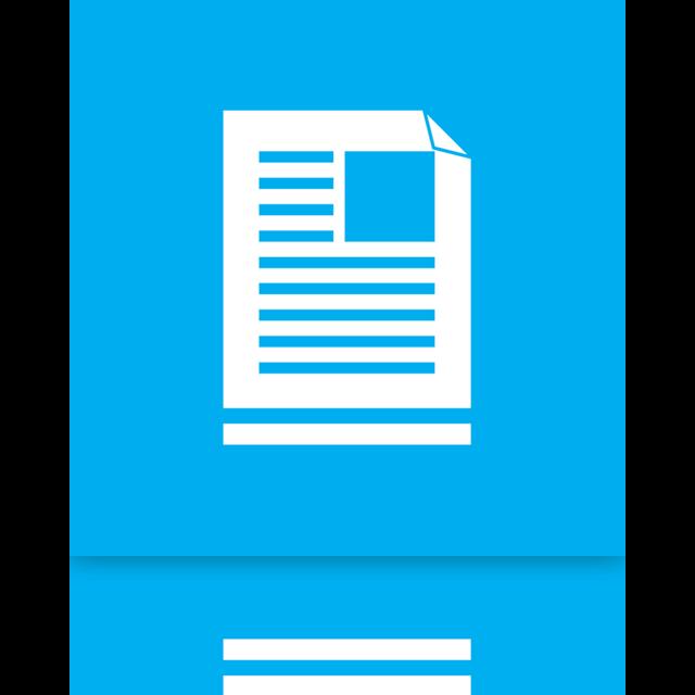 document, mirror, library icon