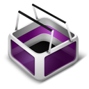 ecommerce, purple, basket, cart, shopping icon