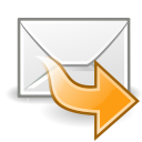 mail, forward icon