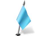 Map Marker Flag 2 Right Azure icon