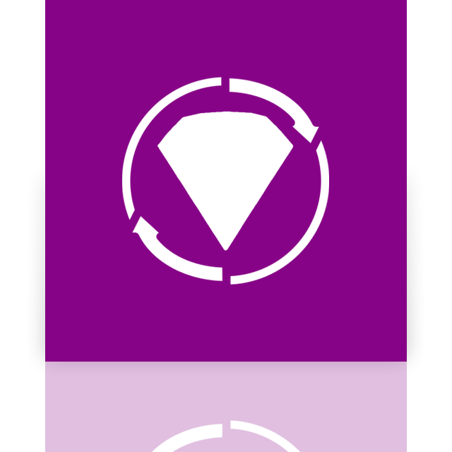 mirror, twist, bejeweled icon