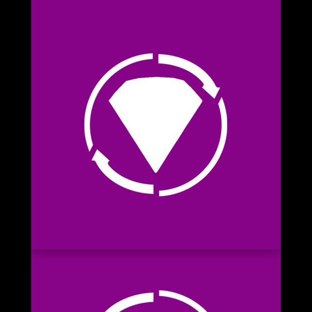 mirror, twist, bejeweled icon