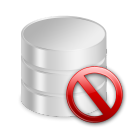 del, remove, db, database, delete icon