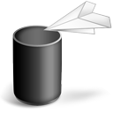 trash, recycle bin icon