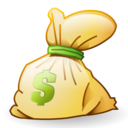 dollar, rick, money, bag, funding, investment, cash icon