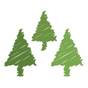 decoration, christmas, tree, ornaments, holiday, xmas, scribble icon