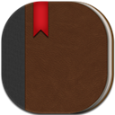 Book, Flat, Round icon