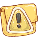 caution, folder icon