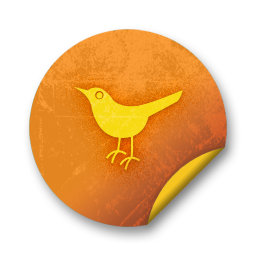 Social Twitter Bird Social Network Sn Animal Icon Orange Stickers Social Media Icon Sets Icon Ninja