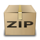 application, gnome, mime, zip icon