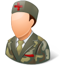 male, armynurse icon