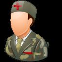 Medical Army Nurse Male Light icon