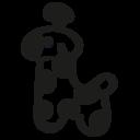 Giraffe hand drawn animal icon