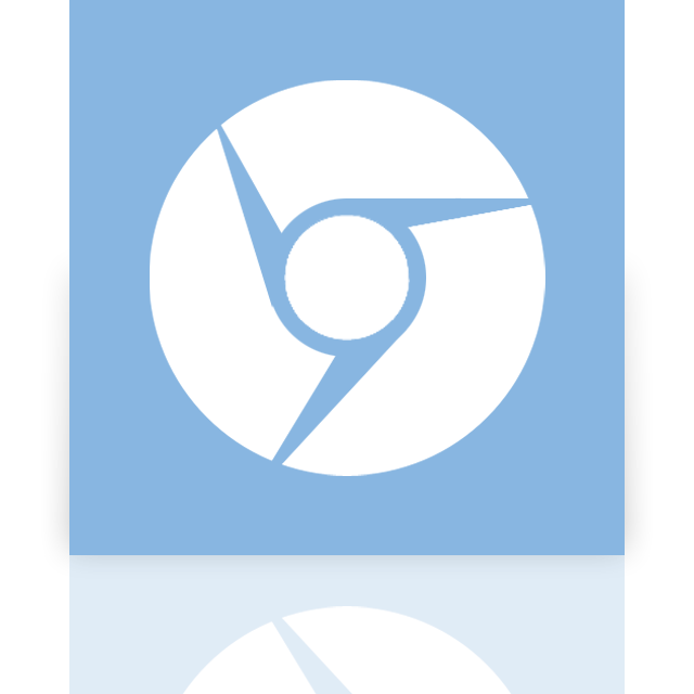 chromium, mirror, google icon
