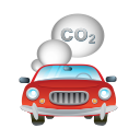 vehicle, automobile, smoke, car, transport icon
