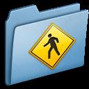 public, blue icon