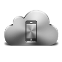 Cloud, Device, Mobile, Silver icon