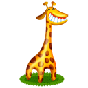 animal, cartoon, giraffe icon