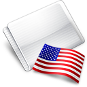 Folder Flag USA icon