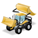construction, bulldozer icon