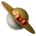saturn, hat, planet icon