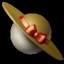 saturn, hat, planet icon