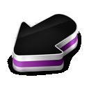 arrow, purple icon