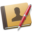 address, book, red icon