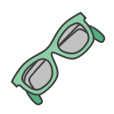 sun glasses, vacation, journey, travel, summer, beach, sea side icon