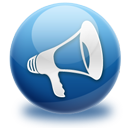 Announcement, Blog, Mute icon