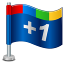 google, +1, google+, plus, one, flag icon