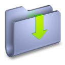 arrow, down, folder, downloads icon