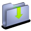 arrow, down, folder, downloads icon
