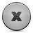 button, grey, close icon